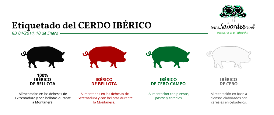 Etiquetado del Cerdo Ibérico Colores Normativa Sabordex